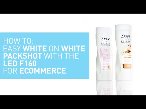 How To: Easy White On White Packshot With The LED F160 For Ecommerce