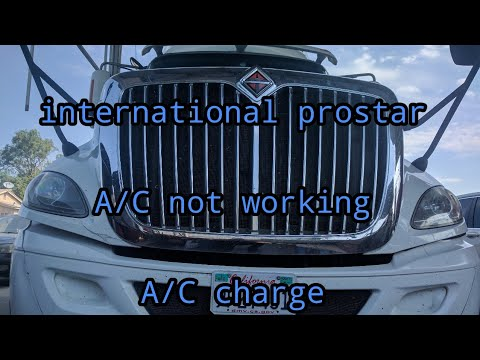 International prostar A/C not working - A/C charge - YouTube