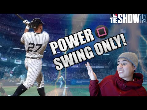 I ONLY USED POWER SWING WITH THE ULTIMATE GOD SQUAD... MLB The Show 19 Ranked Seasons