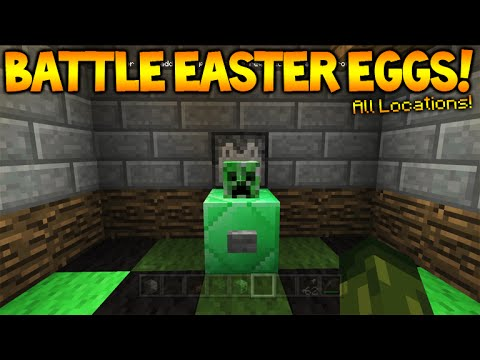 Minecraft Console Tu36 Battle Mode All Hidden Easter Egg Mob Heads Console Edition