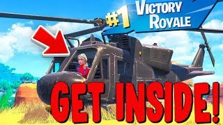 How To Get Inside The Helicopter Located Near Loot Lake! Fortnite Loot Lake Event