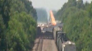 Raw: Deadly Arkansas Freight Train Collision