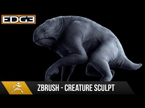 Zbrush 4r7 Sculpting Tutorial - Lizard / Frog Quadraped Creature HD