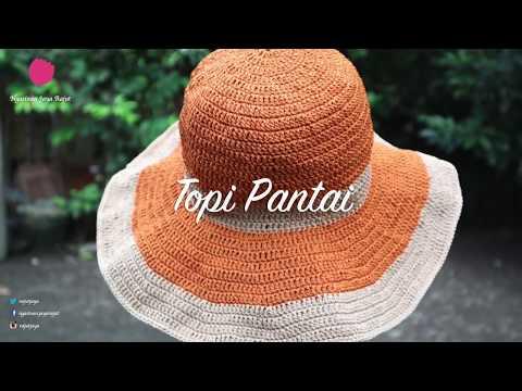 Cara Merajut Topi Pantai