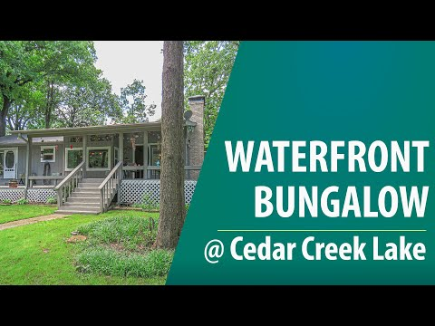 SOLD - Cedar Creek Lake - Cozy Updated Waterfront Home In Gated Subdivision - $299,000