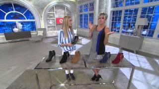 Marc Fisher Suede or Leather Peep Toe Boots - Serenity with Shawn Killinger