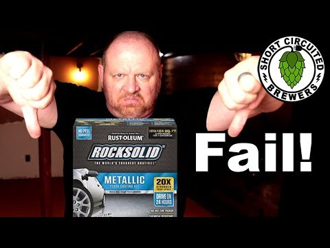 Basement Brewery Build Part 9 | Rustoleum Rocksolid Metallic FAIL and how I recovered