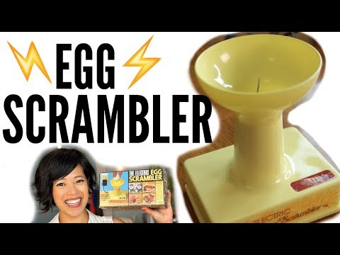 Thumbnail: 1970s ELECTRIC Egg SCRAMBLER - a spinning needle egg beater | VINTAGE Does it Work?