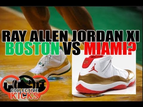 san francisco c01ec 8724d RAY ALLEN JORDAN XI PE BATTLE  BOSTON VS MIAMI!