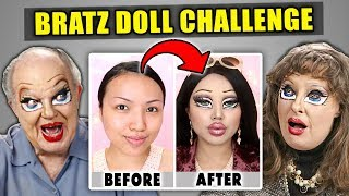 Elders React To BRATZ Makeup Challenge