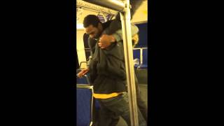 Dude Gets Rocked On Bus! - Crazy Hood Fight!