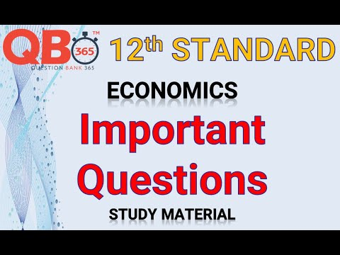 TN   12th Standard Economics - Important Questions With Answer Key