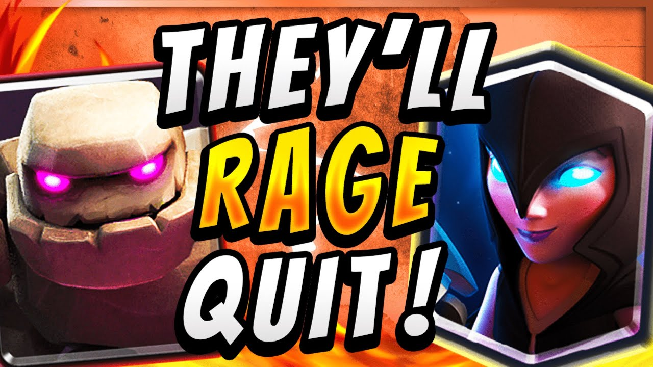 WARNING: CRAZY NEW GOLEM DECK MAKES EVERYONE RAGE! — Clash Royale