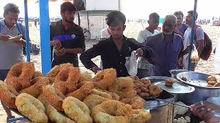 People Enjoying Vada @ 5 rs Per Piece | Besides Orissa Puri Sea Beach