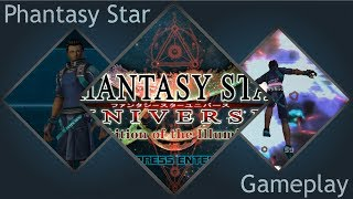Phantasy Star Universe Clementine Gameplay! The Nostalgia!