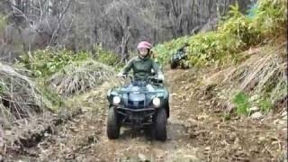 Repeat youtube video 札幌市内の森の中・・・4輪バギーでワイルド走行♪