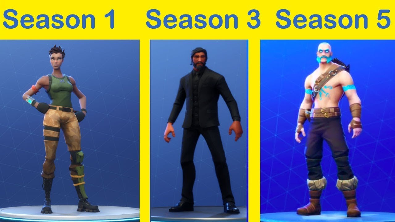 All Tier 100 Skins Season 1 5 Fortnite Battle Royale Youtube