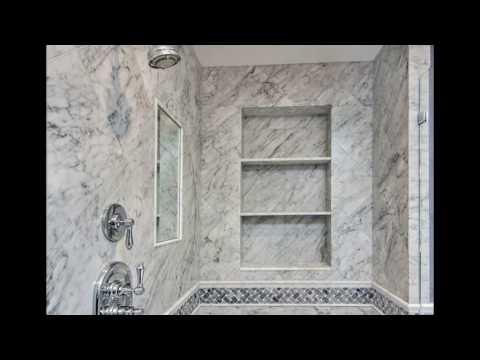 White carrara marble bathroom designs