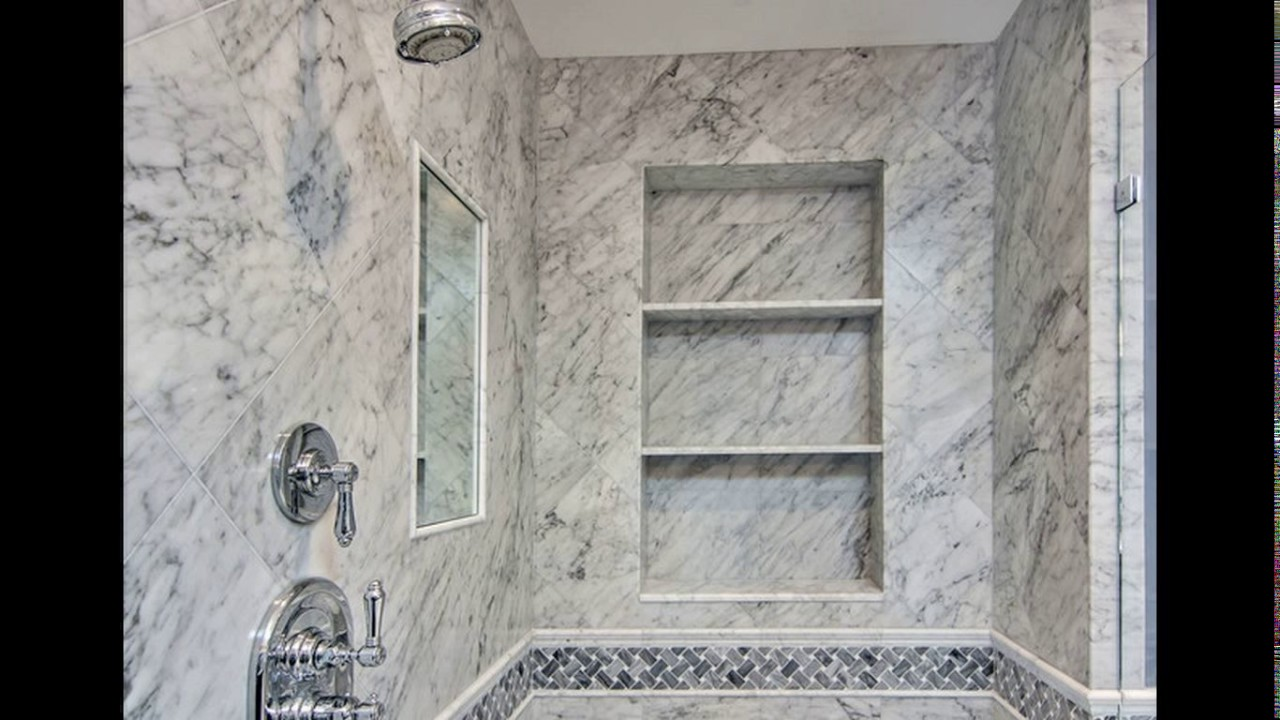 Attractive White Carrara Marble Bathroom Designs