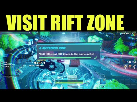 Visit Different Rift Zones In The Same Match - Fortnite Meteoric Rise Challenges Location