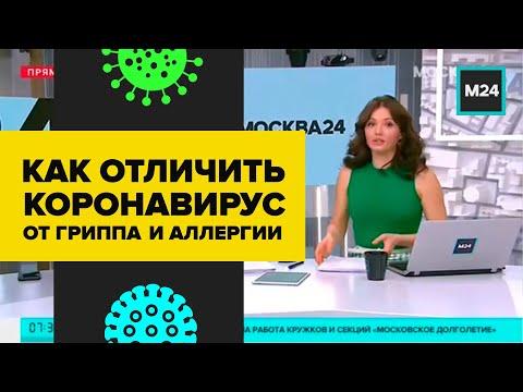 КАК ОТЛИЧИТЬ КОРОНАВИРУС ОТ ГРИППА И АЛЛЕРГИИ - Москва 24