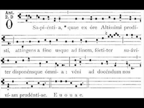 Antifona O Sapientia - gregorian antiphon