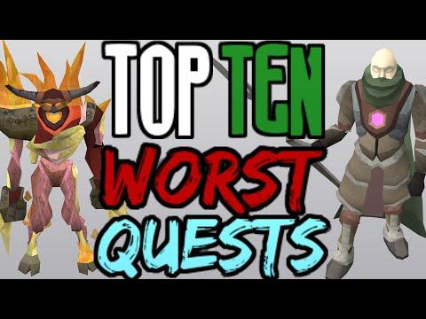 Top 10: WORST Quests! [Runescape 2014]