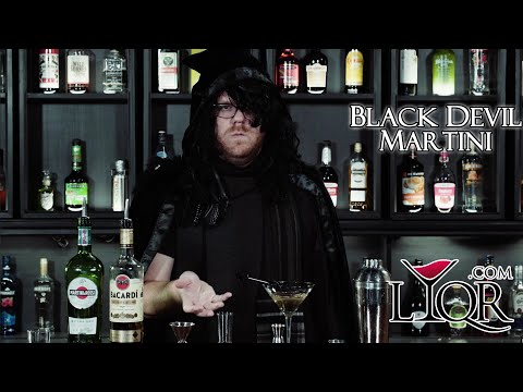 How to Make a Black Devil Martini with Parker