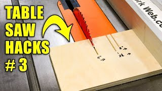 5 Quick Table Saw Hacks Part 3 / Woodworking Tips and Tricks