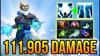 WTF 111,905 DAMAGE - InyourdreaM Zeus Dagon 7 Slot Items Epic Comeback 7.07 | Dota 2