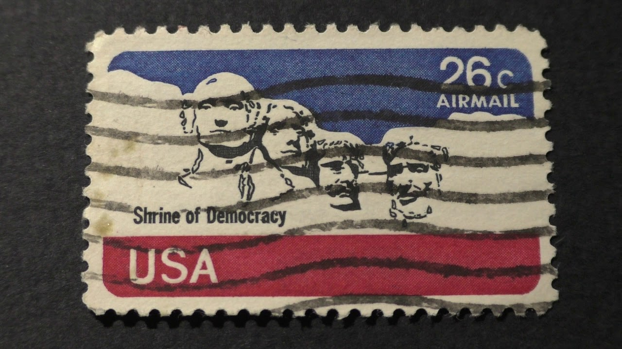 Postage Stamp USA Airmail Shrine Of Democracy Price 26 Cents