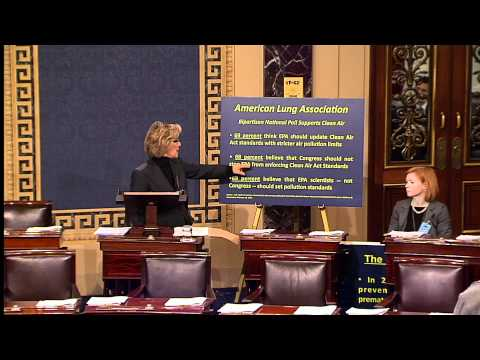 Senator Boxer Speaks on Cuts to Public Health, Environment in the House Republican Budget