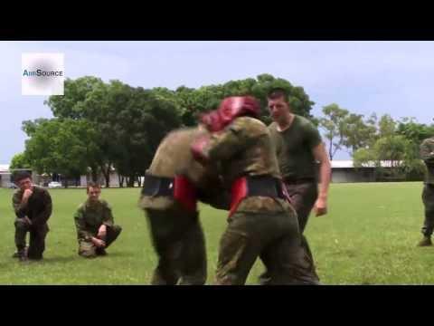U.S. Marines & Australian Army - Body Sparring Practice