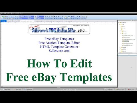 How To Edit Free Ebay Templates For Beginners Step By Step Part 1 Youtube