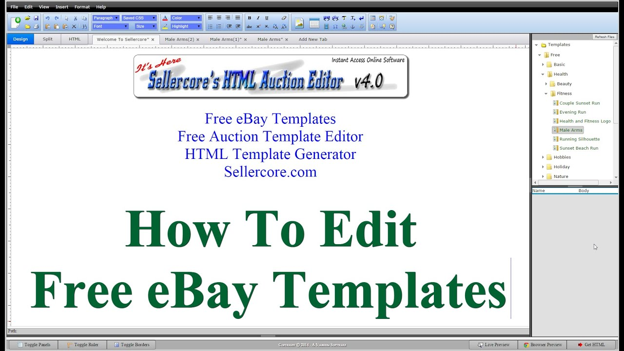 How to edit free ebay templates for beginners step by step for Free ebay templates
