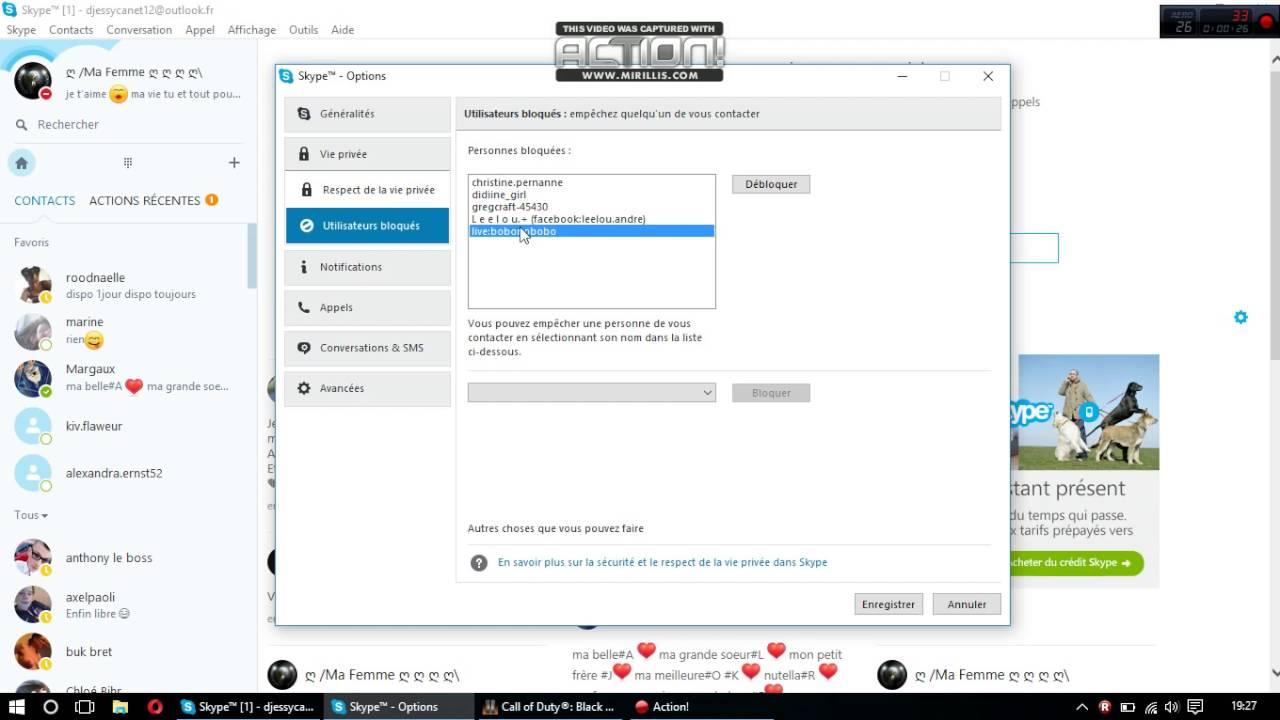 Comment Voir La Liste Des Personne Bloquer Sur Skype Youtube