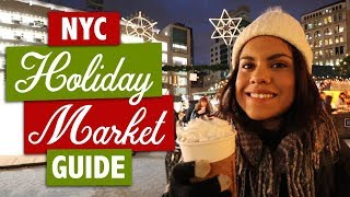 NYC's TOP 5 Christmas Markets 2018 | Bryant Park & More !