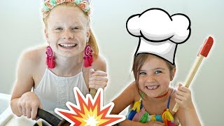 WE LET OUR KiDS COOK DiNNER!! 🙃🔥