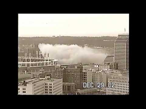 Riverfront Stadium/Cinergy Field Implosion From Mt. Adams