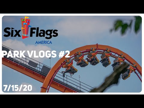 Day Trip To Six Flags America - Park Vlogs #2 - July 15th 2020