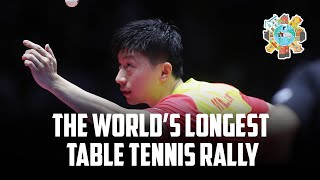 Самый длинный онлайн-розыгрыш мяча! World table tennis day!