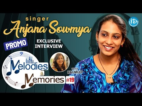 Singer Anjana Sowmya Exclusive Interview PROMO || Melodies And Memories #19