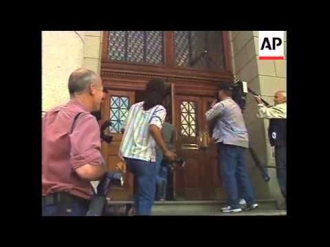 Mark Thatcher arrives for court hearing