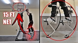 THESE ROBOT LEGS MAKE YOU JUMP LIKE LEBRON JAMES!! *BIONIC JUMPING STILTS*