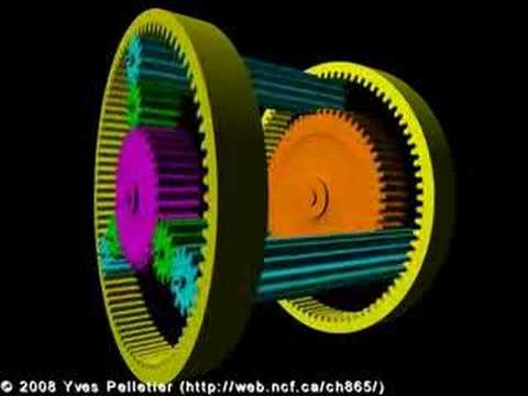 Planetary Gear Set >> Ravigneaux planetary gear train - YouTube