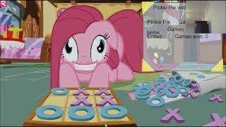 - Пинки Пай VS Мисс Пони в игре крестики нолики