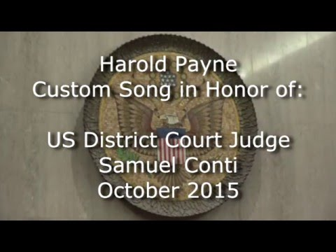 Harold Payne Custom Song at United States District Court, San Francisco