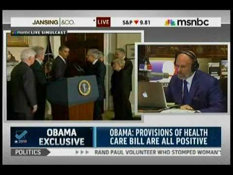 Michael Smerconish- Interview with President Barack Obama on MSNBC before midterms, Oct. 27, 2010.