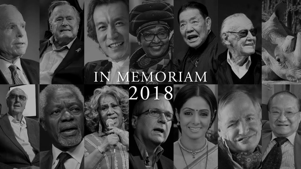 5ba17adc In Memoriam: Remembering those who passed away in 2018 - YouTube