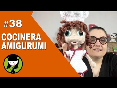 COCINERA AMIGURUMI 38 final del tutorial